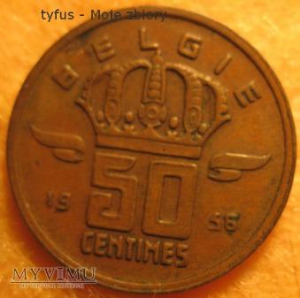 50 CENTIMES - Belgia (1956)