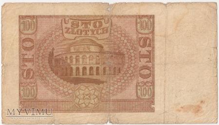 100 złotych 1 marca 1940 rok Ser. C