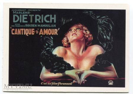 Duże zdjęcie Marlene Dietrich Tushita Postcard pocztówka