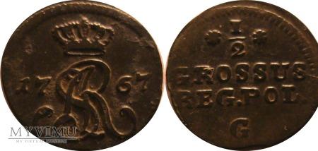 1/2 grosza 1767 - R