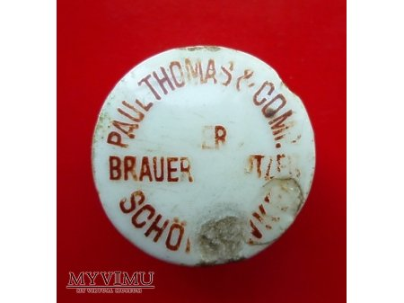 Paul Thomas & Co-okrągła,czerwony napis.