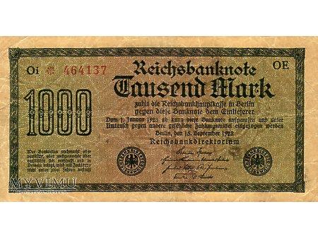 1000 Marek 1922 r.
