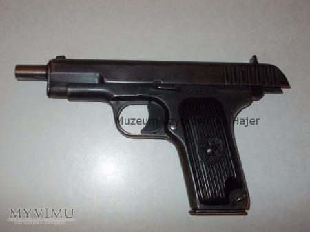 Pistolet TT rocznik 1936 + zdjecie żołnierza 62 KS
