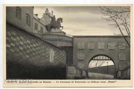 Kraków - Wejście na Wawel - Pomnik Kościuszki 1938
