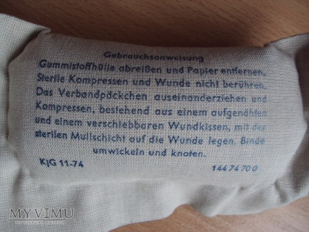 Opatrunki osobiste DDR