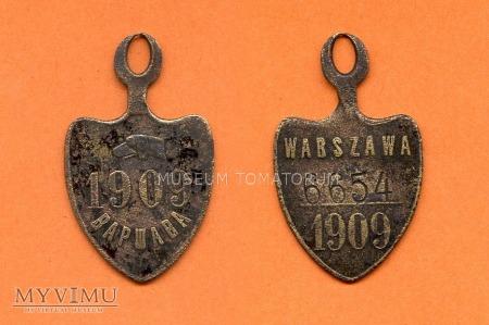 Psi numerek - Warszawa - 1909