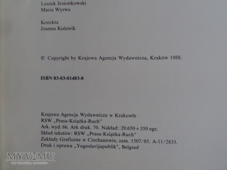 Polski mundur wojskowy - 1988