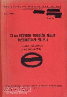 ZSU-23-4. Album rysunków z 1969 r.