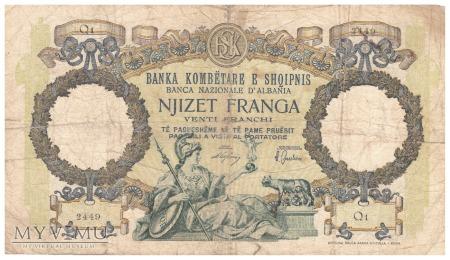 Albania - 20 franków (1939)