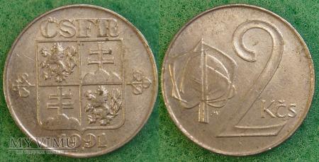 Czechosłowacja, 2 Koruny 1991