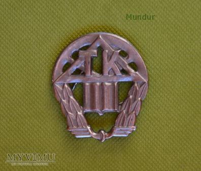 Odznaka (korpusówka) technikum kolejowego