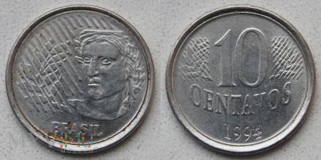 Brazylia, 10 centavos 1994