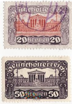 Deutschösterreich Kaiserreich 20-50 Kronen