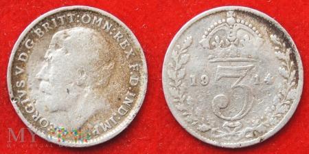 Wielka Brytania, 3 pence 1914