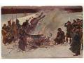 Kossak - Palenie sztandarów nad Berezeną 1812