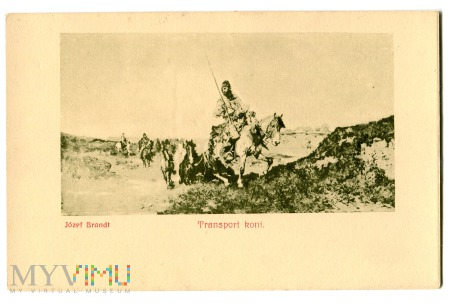 Duże zdjęcie Transport Koni, Józef Brandt, c. 1910