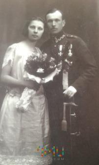 Piotr Noworyta ślub 1925