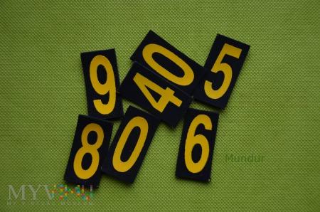Dystynkcje MW - cyfry - numer okrętowy