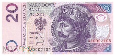Polska - 20 złotych (1994)