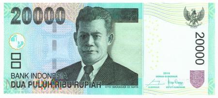 Indonezja - 20 000 rupii (2016)