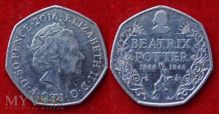 Wielka Brytania, 50 pence 2016
