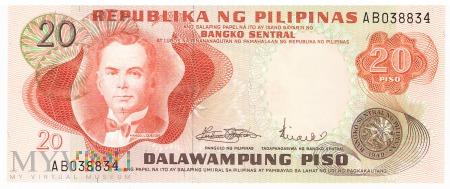 Filipiny - 20 pesos (1970)