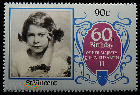 St. Vincent 90c Elżbieta II