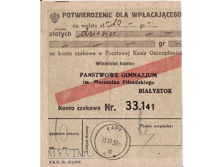 Potwierdzenie opłaty-1939.