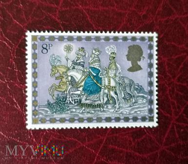 wszyscy trzej konno - znaczek z Wielkiej Brytanii