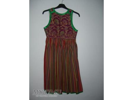 grinśtrimikjerök -spódnica z zielonymi paskami