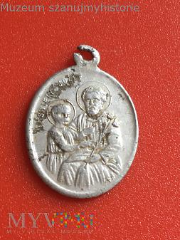 Medalik MB Częstochowska i św. Józef