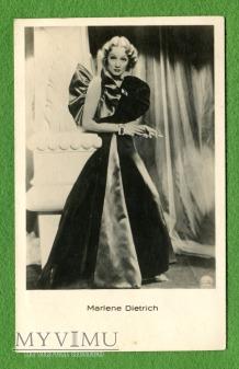 Marlene Dietrich pocztówka Latvia l.30-te Fotobrom