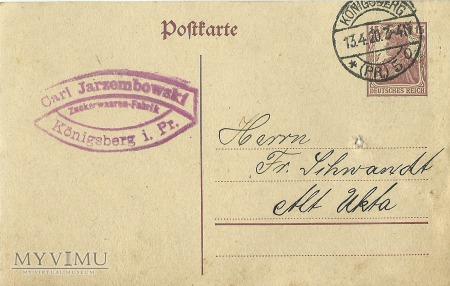 Carl Jarzembowski Konigsberg 1920 r.