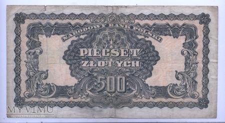 """500 złotych - 1944 (""""obowiązkowym"""")"""