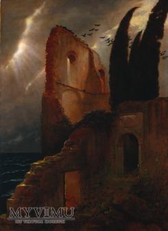 A. Bocklin - Ruiny nad morzem