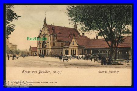 BYTOM Beuthen , Dworzec kolejowy