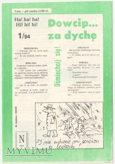 Dowcip...za dychę 1/94
