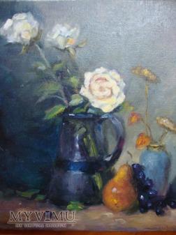 kwiaty w wazonie - martwa natura
