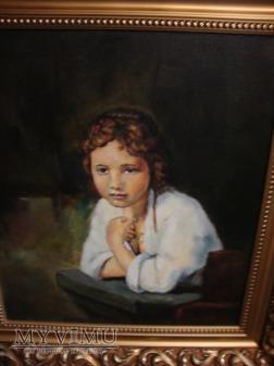 Portret dziewczyny w oknie kopia Rembrandta