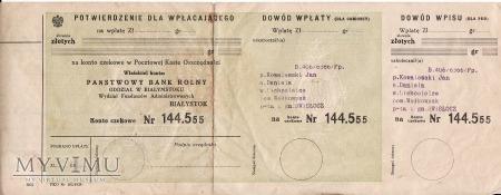 Nakaz płatniczy z 1939.