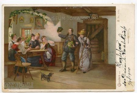 Dachshund - Jamnik towarzysz człowieka - 1900