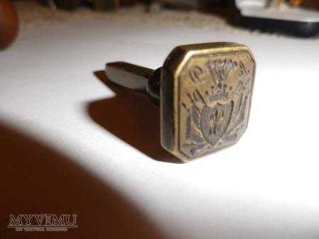 herb Gozdawa-pieczęć,tłok pieczętny mosiądz 1
