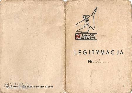 Legitymacja znaczka pamiątkowego 1PLM,,Warszawa,,