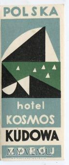 Nalepka hotelowa - Kudowa Zdrój - Hotel Kosmos