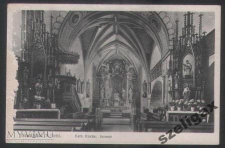 Wnętrze kościoła pw. Marii Magdaleny - 1920 r.