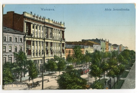 Warszawa aleje Jerozolimskie c. 1910 Wojutyński