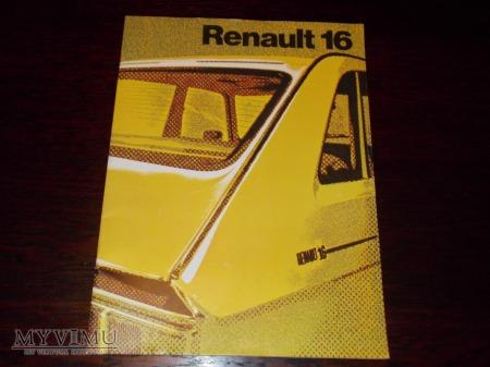 Prospekt RENAULT 16