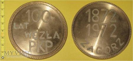 Duże zdjęcie Medal kolejowy węzła Zagórz