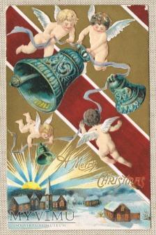 1908 aniołki dzwony Wesołych Świąt