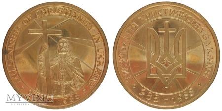 Duże zdjęcie Millenium chrześcijaństwa na Ukrainie medal 1988